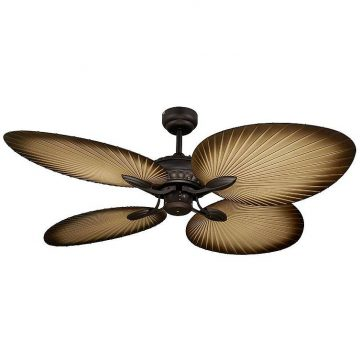 Oasis Palm Leaf Ceiling Fan