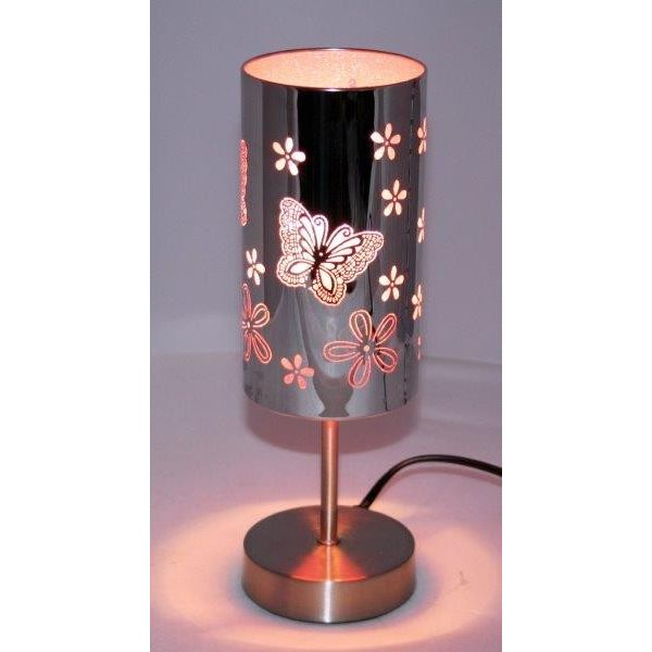 Pink Butterfly Touch Lamp Amore Lighting Indoor