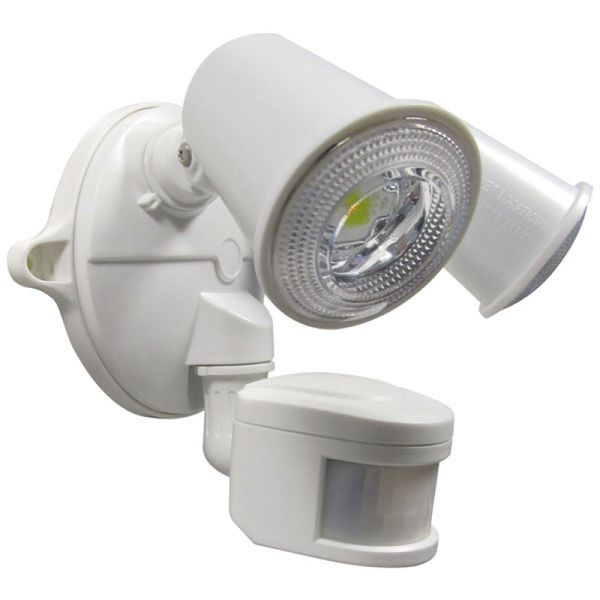 LED Twin Spotlight 20W With Motion Sensor White Amore Lighting Indoor Am
