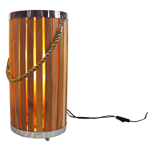 Bronte 50cm Wooden Floor Lamp