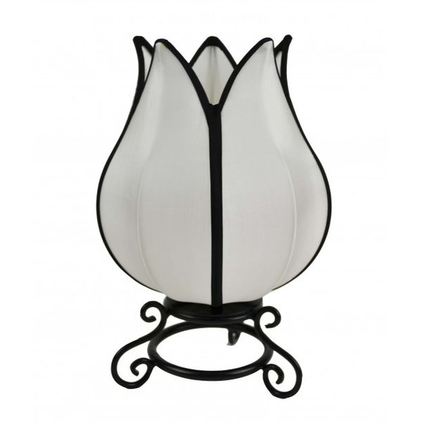 Rovan Small Tulip Table Lamp White Black