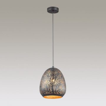 Ripley 1 Light Black Cut Metal Pendant