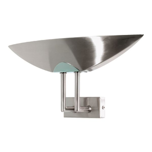 Fresco Brushed Chrome Wall Light Amore Lighting Indoor & Outdoor Lighting Specialists, Coffs ...