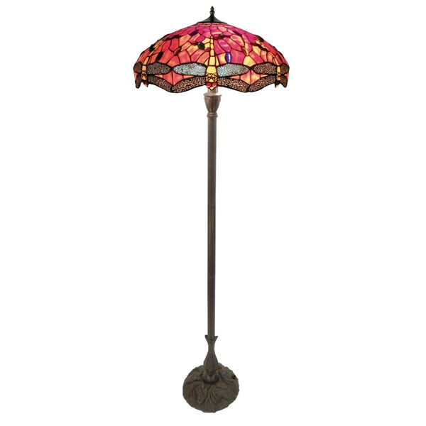 Dragonfly large leadlight floor lamp amore lighting indoor leadlight floor lamp tl f20209a kgezr mozeypictures Gallery