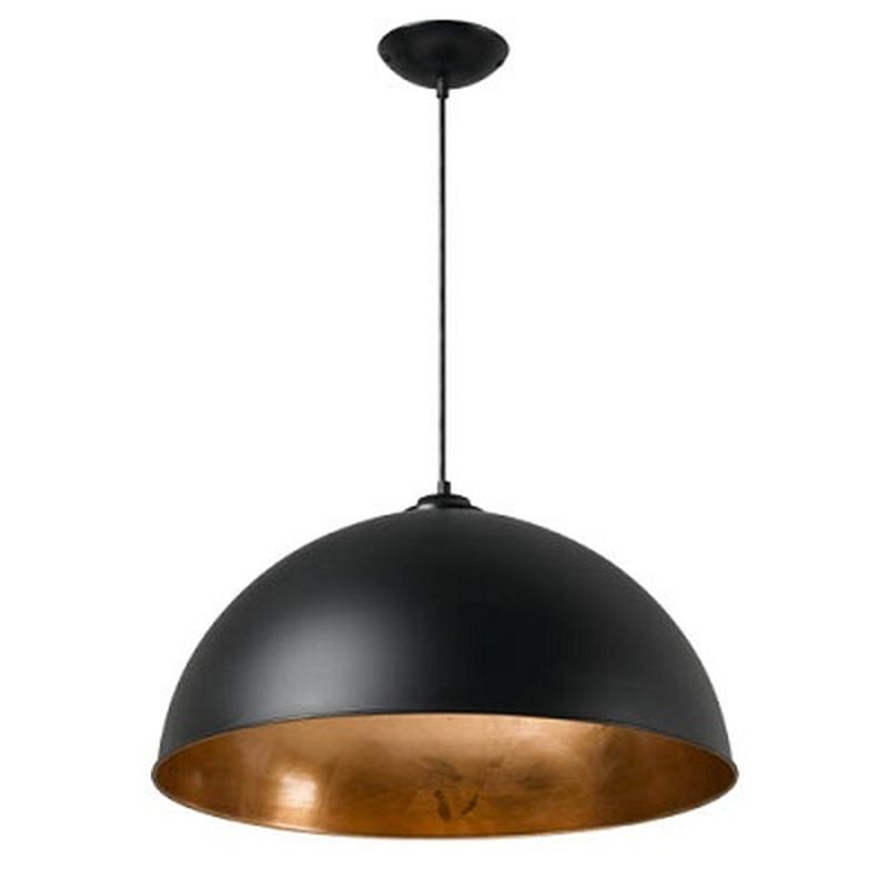 Copper Leaf Dome Pendant Range Amore Lighting