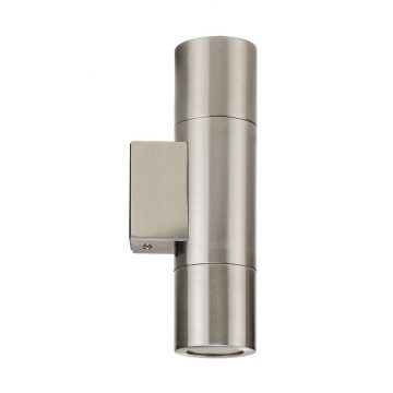 Piaz Stainless Steel Exterior Up/Down Wall Pillar Light