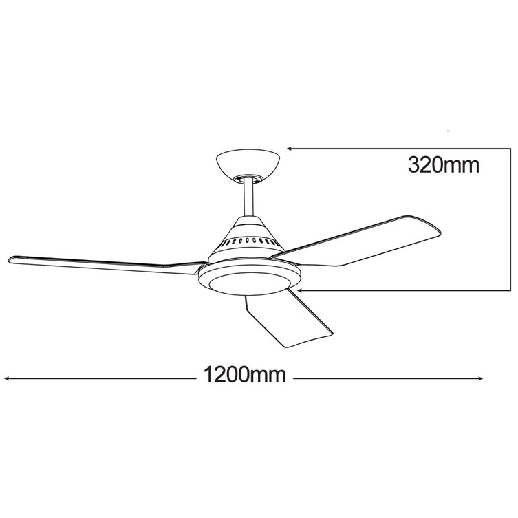 Imperial 48 3 Blade Ceiling Fan Buy Online Amore Lighting
