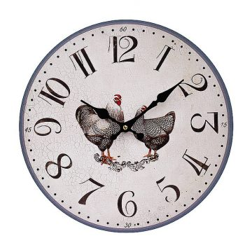Silver Laced Wyandotte Wall Clock