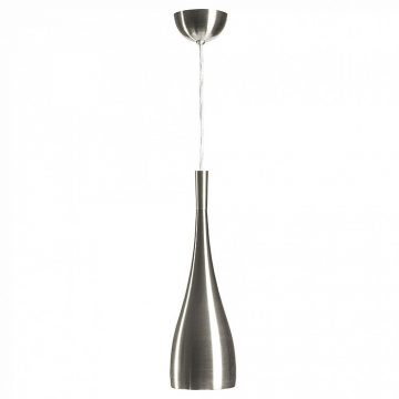 Bullet Pendant Satin Nickel Light