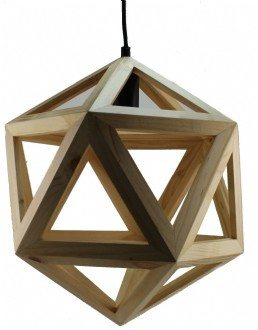 P1605 Dodecagon Wooden Pendant Light